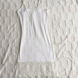 Grace & Lace cream dress extender small NWOT
